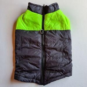 NWOT Pet Dog Coat Jacket Full Zip Yellow Black